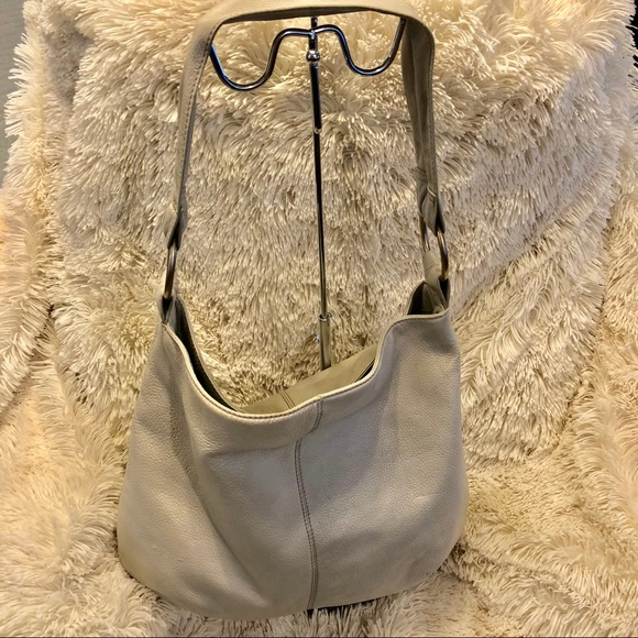 6888b82263 HOBO Handbags - Hobo International Pearl Off White Leather Bag